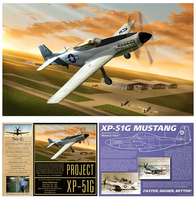 Helping bring the only XP-51/G Mustang back to the skies