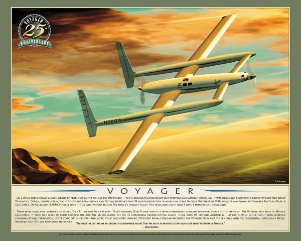 Airmail helps celebrate the 25th anniversary of Voyager's world record-breaking flight
