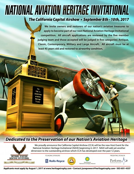 Gears up for the National Aviation Heritage Invitational in 2017